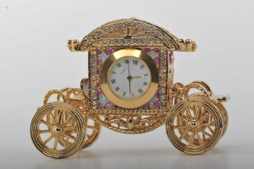 Decorato con Swarovski Baby Carriage Clock-Cofanetto portagioie
