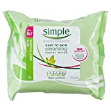 Simple Kind to Skin Cleansing Wipes 6 x Pack of 25 Wipes (150 Wipes)