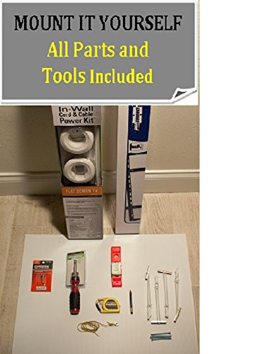 """Prosmart Tv Wall Mount Kit - Complete Diy Professional Package For A Do-It-Yourself Install - All Tools Needed, Fits Most Tvs 32-60"""" - Vesa 100X100 Thru 400X400. Easy To Follow Detailed Instructions - Mount The Tv On The Wall, Conceal The Power Outlets An"""