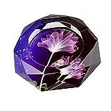 Elegant Creative Glass Cigar Cigarette Ashtray Home Decoration purple flower