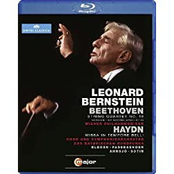 Leonard Bernstein Conducts Beethoven String Quartet No. 16 & Haydn Missa in Tempore Belli [Blu-ray]