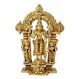 Redbag Lord Purushottama Vishnu Brass Sculpture