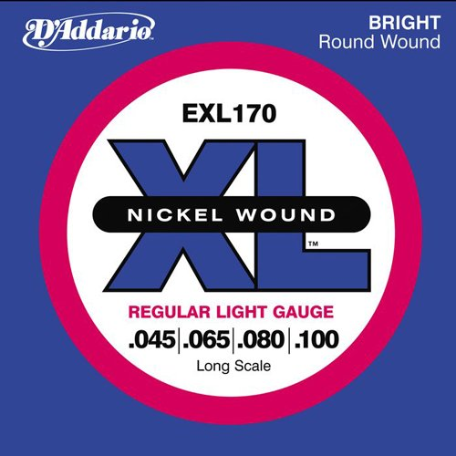 D'Addario EXL170 XL Nickel Long Scale Bass Guitar