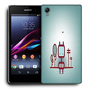 Snoogg Animated Street Printed Protective Phone Back Case Cover For Sony Xperia Z2