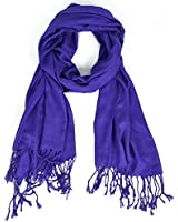 Hollywood Solid Pashmina Scarf -Royal Blue