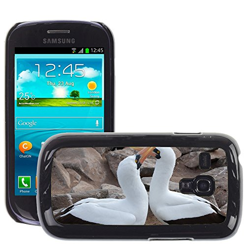 GoGoMobile Slim Protector Hard Shell Cover Case // M00124012 Nazca Boobie Bird Mating Ritual // Samsung Galaxy S3 MINI i8190