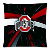 Soft Cotton Pillowcase Personalized Pillow Case 1 Side-NCAA Ohio State Team Logo Pictures-18x18-01 at Amazon.com
