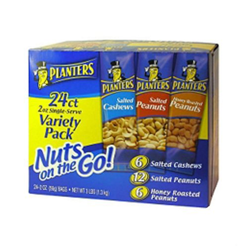 5 Planters Nuts On The Go Snack Packs 24 2 Oz Variety Packs 5