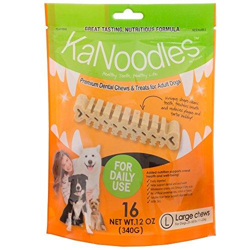 Kanoodles Dental Chews & Treats - Large 12Oz (16 Counts)