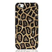 NOVA CASE ® Chic Series 3D Bling Crystal iPhone Case for iPhone 5/5S- Leopard Print