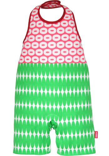 BIBPA グラフィックライン 70~90cm ピンク×グリーン 綿100% B-007-PKGR