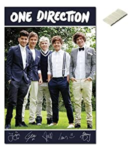 Iposters Bundle - 2 Items - One Direction Band Portrait Poster - 91.5 X 61cms (36 X 24 Inches) And Small Block Of White Tack from iPosters