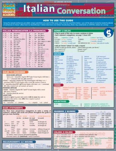 Italian Conversation Laminated Reference Chart (Quick Study Academic)