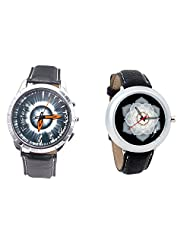 Foster's Men's Grey Dial & Foster's Women's Black Dial Analog Watch Combo_ADCOMB0002311