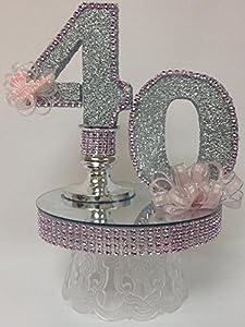 Amazoncom 40th Birthday Cake Topper Table Centerpiece