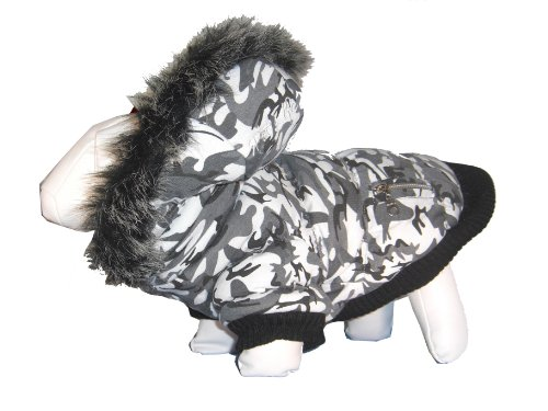 Pet Life Deer Pattern Parka Coat With Removeable Hood, Large front-461258