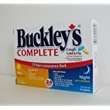 BUCKLEY'S COMPLETE 24 Caplets COUGH, COLD & FLU Extra Strength Relief for Day & Night