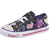 Kids Skechers Flirty Flutters Canvas Trainers Black/Multi Childs Junior