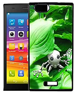 FCS Printed 2D Designer Hard Back Case For Micromax Canvas Nitro 2 E311 With Universal Mobile Stand