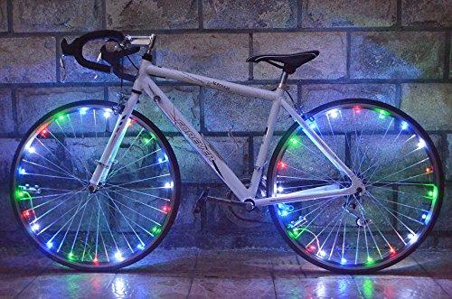 vyage (TM) bellezza per bici luce impermeabile 20LED bicicletta Rim Luci LED Ruota Luce 2,2m filo lampada Green