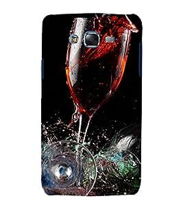 printtech Wine Drink Glass Back Case Cover for Samsung Galaxy J1::Samsung Galaxy J1 J100F