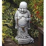 Large Garden Ornaments - Standing Stone Buddha Statue