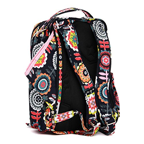 ju ju be be right back backpack diaper bag dancing dahlias diaper bag. Black Bedroom Furniture Sets. Home Design Ideas