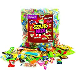 Assorted SOUR Candy Mix - Sour Punch, Sour Patch , Laffy Taffy, WarHeads, Now & Later Sour, Mike & Ike Zours, Lemonheads, Skittles , Mamba, Haribo Gummy Bear, Toxic Waste, And MUCH MORE- 4 lbs bag.