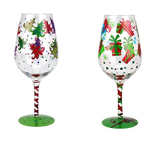 Christmas wine glasses page two christmas wikii for Acrylic paint on wine glasses
