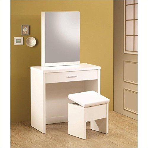 Best Price Coaster Home Furnishings 300290 Contemporary Vanity, White