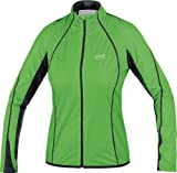 Gore Running Wear Women's Running Pulse As Lady Jacket - Green Leaf/Black, 42 M