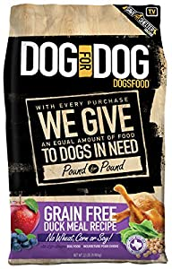 DOG for DOG DOGSFOOD Grain Free Duck Meal Recipe - 22lb, 1Piece