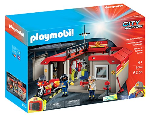 PLAYMOBIL-Take-Along-Fire-Station-Playset