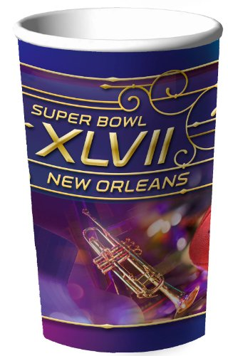 Super Bowl Xlvii 22 Oz. Plastic Cups 18 Pack Picture