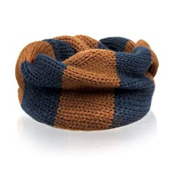 MERSUII Fashionable Double Color Baby Infant Kids Toddler Unisex Boys Girls Multifunctional Scarf And Neckwarmer brown