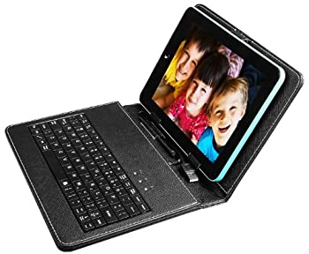 PU Leather Carrying Pack For 8 Inch Tablet Stand W/ USB Keyboard + Stylus Pen