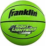 Franklin Sports Night Lightning B3 Rubber Basketball (Mini Size)
