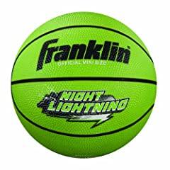 Buy Franklin Sports Night Lightning B3 Rubber Basketball (Mini Size) by Franklin