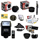 47th Street Photo Best Value Advanced Lens Kit for the SONY Alpha A33 A35 A55 A65 A580 A99 A37 A77 A37 A5000 NEX-7 NEX-3N - Includes: Opteka 0.35x Wide Angle Lens + 2.2x Extreme High Definition AF Telephoto Lens + Professional 5 Piece Filter Kit (UV - CPL - FL - ND4 and 10x Macro Lens) + Super i-TTL Bounce Zoom Flash + Wireless Remote Control + Collapsible Lens Hood + Flower Lens Hood + Snap On Lens Cap + Sensor Cleaning Kit for SLR Cameras + Lens Cleaning Pen + Stabilizing Hand Grip Strap + Soft