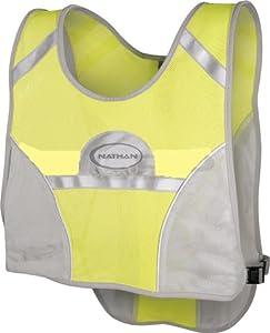 Nathan L.E.D. Cyclist Reflective Vest (Neon Yellow/Grey)