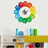 WALPLUS(TM) Interior Design Decor Wall Clock Stickers Mural Art Creative Colourful Cubes