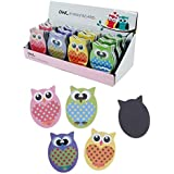 PACK OF TWO BRIGHT OWL DESIGN EMERY BOARDS, WILL FIT INTO A SMALL HANDBAG