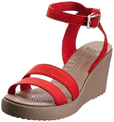 Amazon.com: crocs Women's Leigh Wedge: Shoes