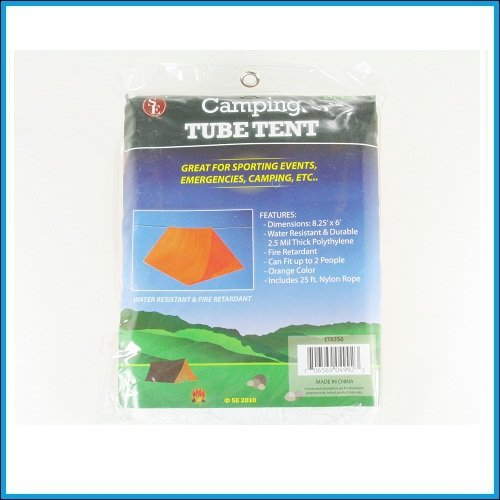 SE Camping Tube Tent ET8256 8.25′ x 6′ orange color, Outdoor Stuffs