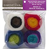 Dimensions Feltworks Multi-Color Roving Rolls - 2 oz