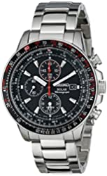 Seiko Men's SSC007 Stainless Steel Watch with Link Bracelet