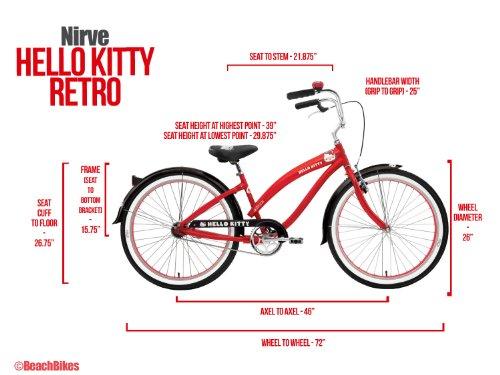 8e680b96fcc Bike: Nirve Hello Kitty Retro Kitty 26 Women's Cruiser Bicycle