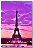1x Poster Eiffel Tower Landscape Paris City Girl Gift Love for Room Office Hall Art Print Decoration 35.5x23.5