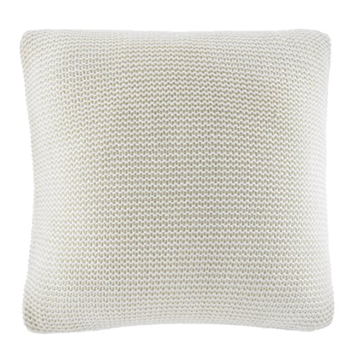 Nautica Bell Point Knit Decorative Pillow, White