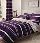 CONTEMPORARY STRIPED Duvet Cover - Pu...
